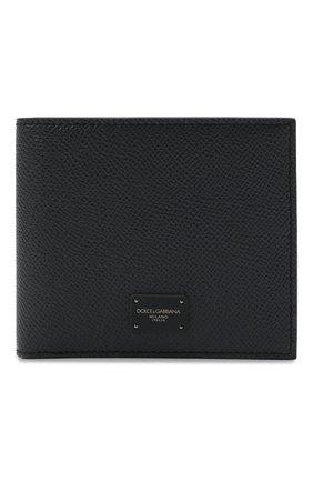 Мужской кожаное портмоне DOLCE & GABBANA темно-серого цвета, арт. BP1321/AZ602 | Фото 1