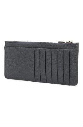 Мужской кожаный футляр для кредитных карт DOLCE & GABBANA темно-серого цвета, арт. BP2172/AZ602 | Фото 2