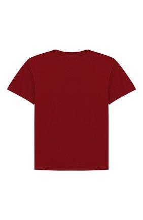 Детская хлопковая футболка DOLCE & GABBANA бордового цвета, арт. L4JT7N/G7REY/2-6 | Фото 2