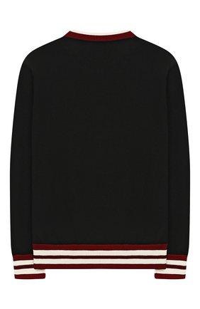 Детский шерстяной пуловер DOLCE & GABBANA черного цвета, арт. L4KW25/JAVLX/8-14   Фото 2