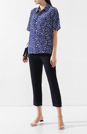 Женские укороченные брюки MARNI темно-синего цвета, арт. PAMA014A02/TV285 | Фото 2