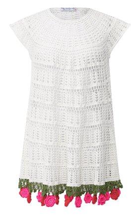 Хлопковое платье My Beachy Side белое | Фото №1