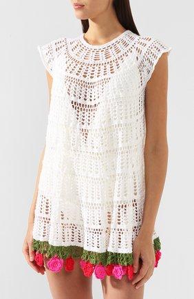 Хлопковое платье My Beachy Side белое | Фото №3