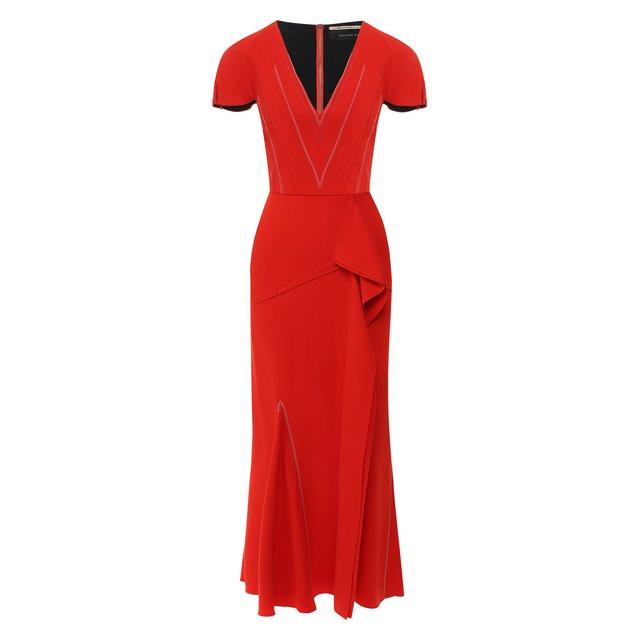 Платье-миди с оборкой Roland Mouret