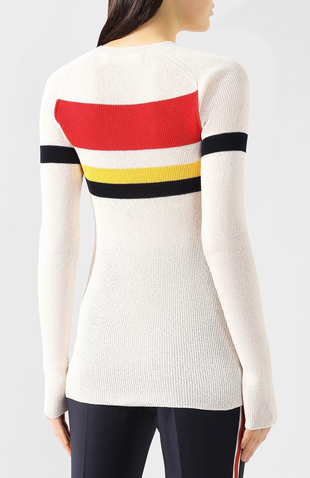 Хлопковый пуловер | Фото №4