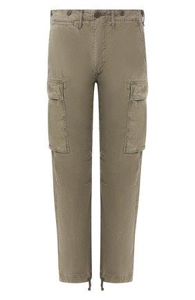 Мужской хлопковые брюки карго RRL хаки цвета, арт. 782657678 | Фото 1