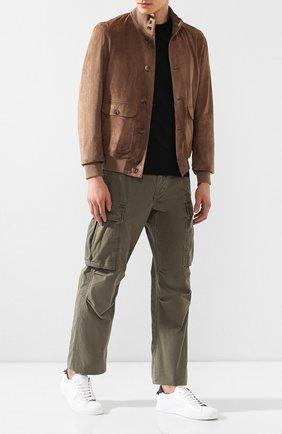 Мужской хлопковые брюки карго RRL хаки цвета, арт. 782657678 | Фото 2