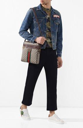 Мужская сумка-планшет ophidia GUCCI бежевого цвета, арт. 547934/96IWT   Фото 2