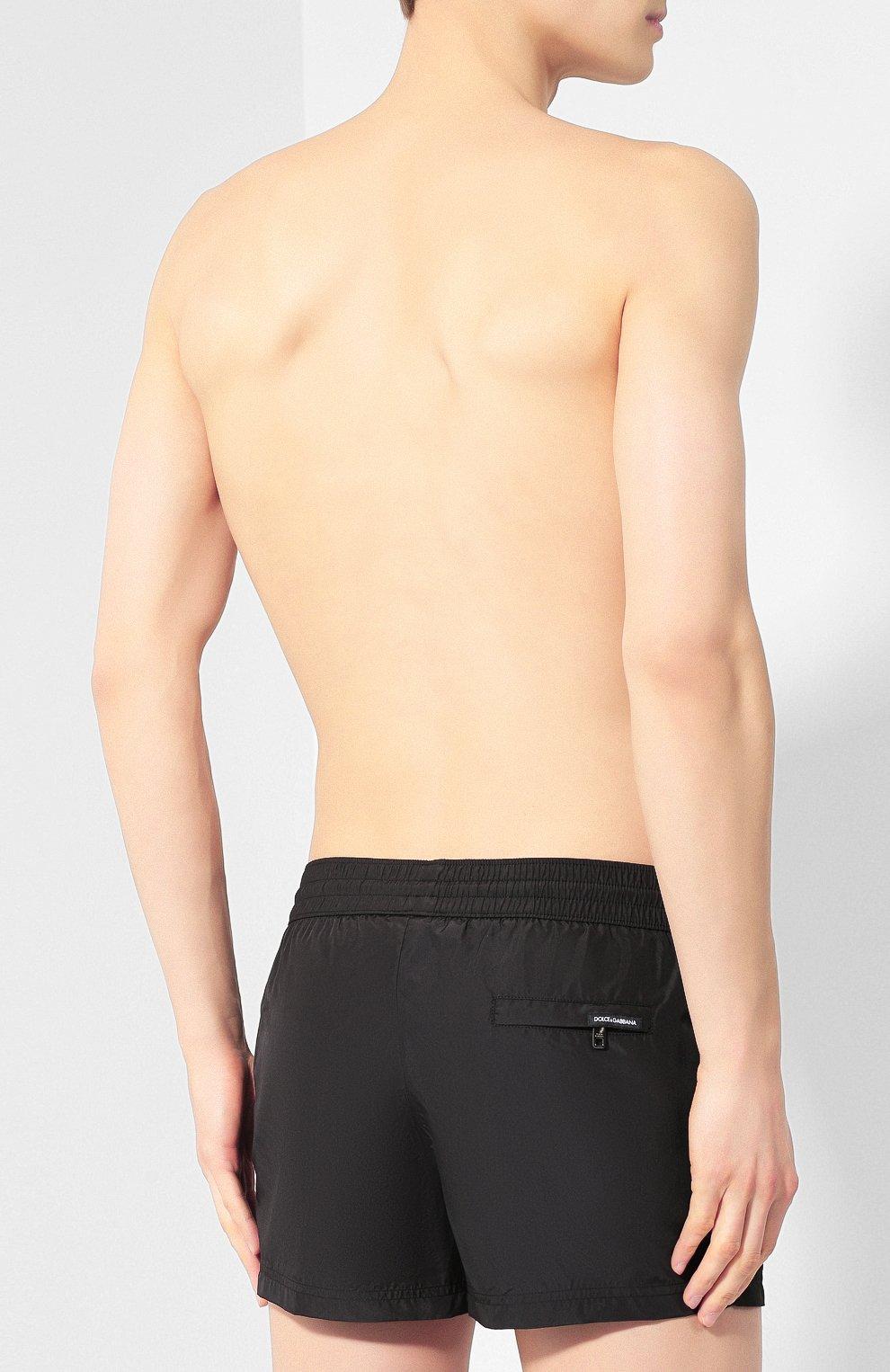 0a2ee29c1ed5e Мужские черные плавки-шорты DOLCE & GABBANA — купить за 22650 руб. в ...