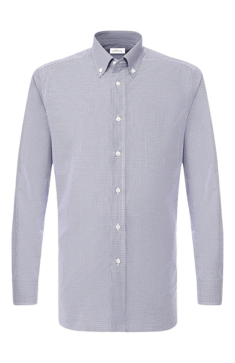 Мужская хлопковая рубашка BRIONI голубого цвета, арт. SCAA0M/P8029   Фото 1