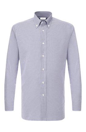 Мужская хлопковая рубашка BRIONI голубого цвета, арт. SCAA0M/P8029 | Фото 1