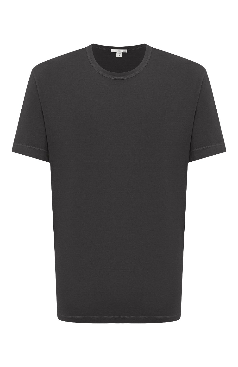 Мужская хлопковая футболка JAMES PERSE серого цвета, арт. MLJ3311 | Фото 1