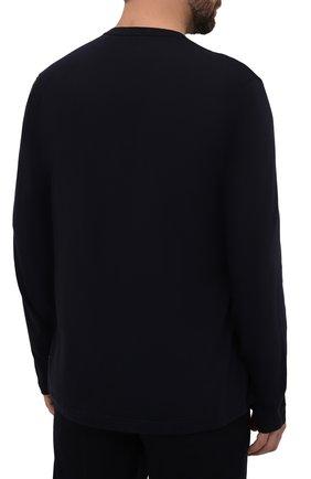 Мужская хлопковый лонгслив JAMES PERSE темно-синего цвета, арт. MLJ3351 | Фото 4 (Рукава: Длинные; Принт: Без принта; Длина (для топов): Стандартные; Материал внешний: Хлопок; Мужское Кросс-КТ: Лонгслив-одежда; Стили: Кэжуэл; Статус проверки: Проверена категория)
