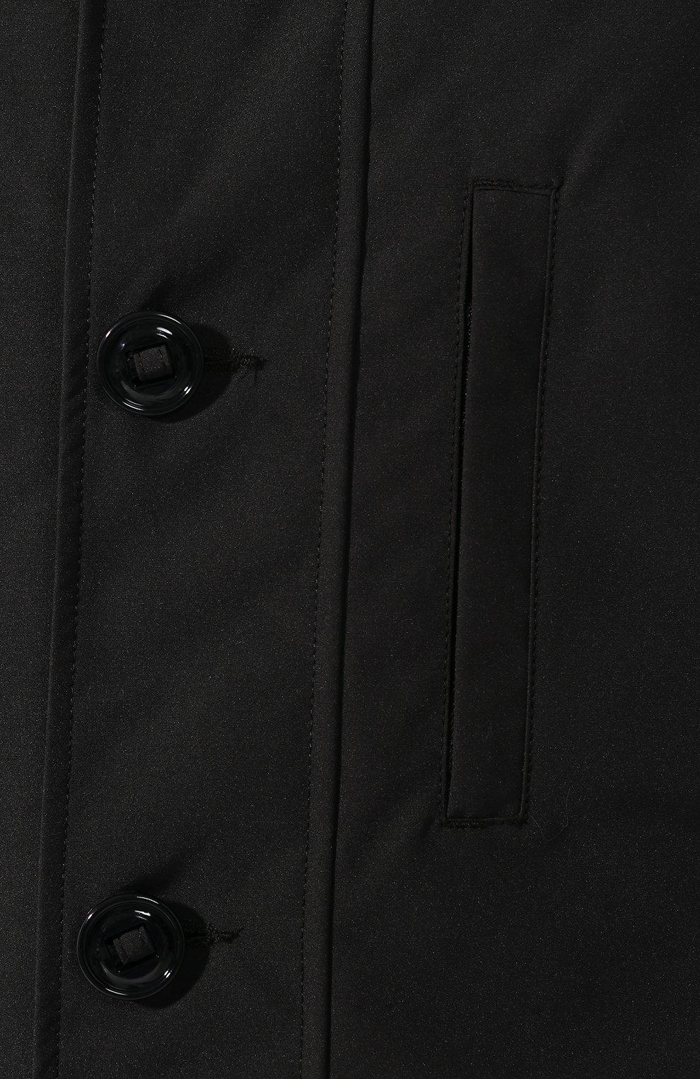 Мужская пуховая парка chateau с меховой отделкой CANADA GOOSE черного цвета, арт. 3426MB | Фото 5