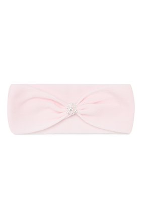Детский комплект из пинеток и повязки на голову LA PERLA розового цвета, арт. 48521/000-0 | Фото 2