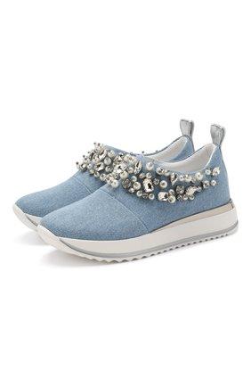 Детские текстильные кроссовки MISSOURI голубого цвета, арт. 11749/31-34 | Фото 1