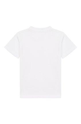 Детский хлопковая футболка DOLCE & GABBANA белого цвета, арт. L1JT7W/G7REY | Фото 2