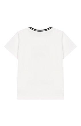 Детский хлопковая футболка DOLCE & GABBANA белого цвета, арт. L1JT7W/G7REZ | Фото 2