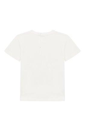 Детский хлопковая футболка DOLCE & GABBANA белого цвета, арт. L2JTCE/G7RNQ | Фото 2