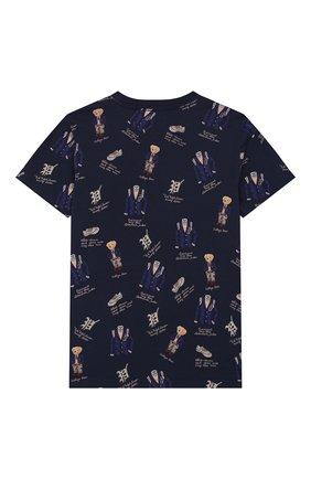 Детская хлопковая футболка POLO RALPH LAUREN темно-синего цвета, арт. 322739069 | Фото 2