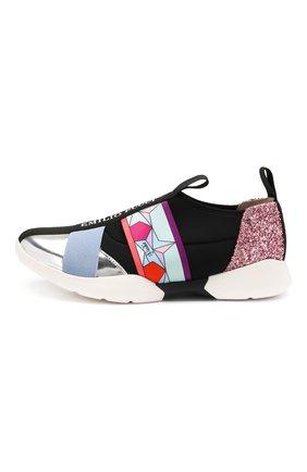Детские текстильные кроссовки EMILIO PUCCI разноцветного цвета, арт. 9K0276/KX260 | Фото 2