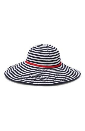 Детская хлопковая шляпа IL GUFO синего цвета, арт. P19E0247EA300 | Фото 1