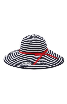 Детская хлопковая шляпа IL GUFO синего цвета, арт. P19E0247EA300 | Фото 2