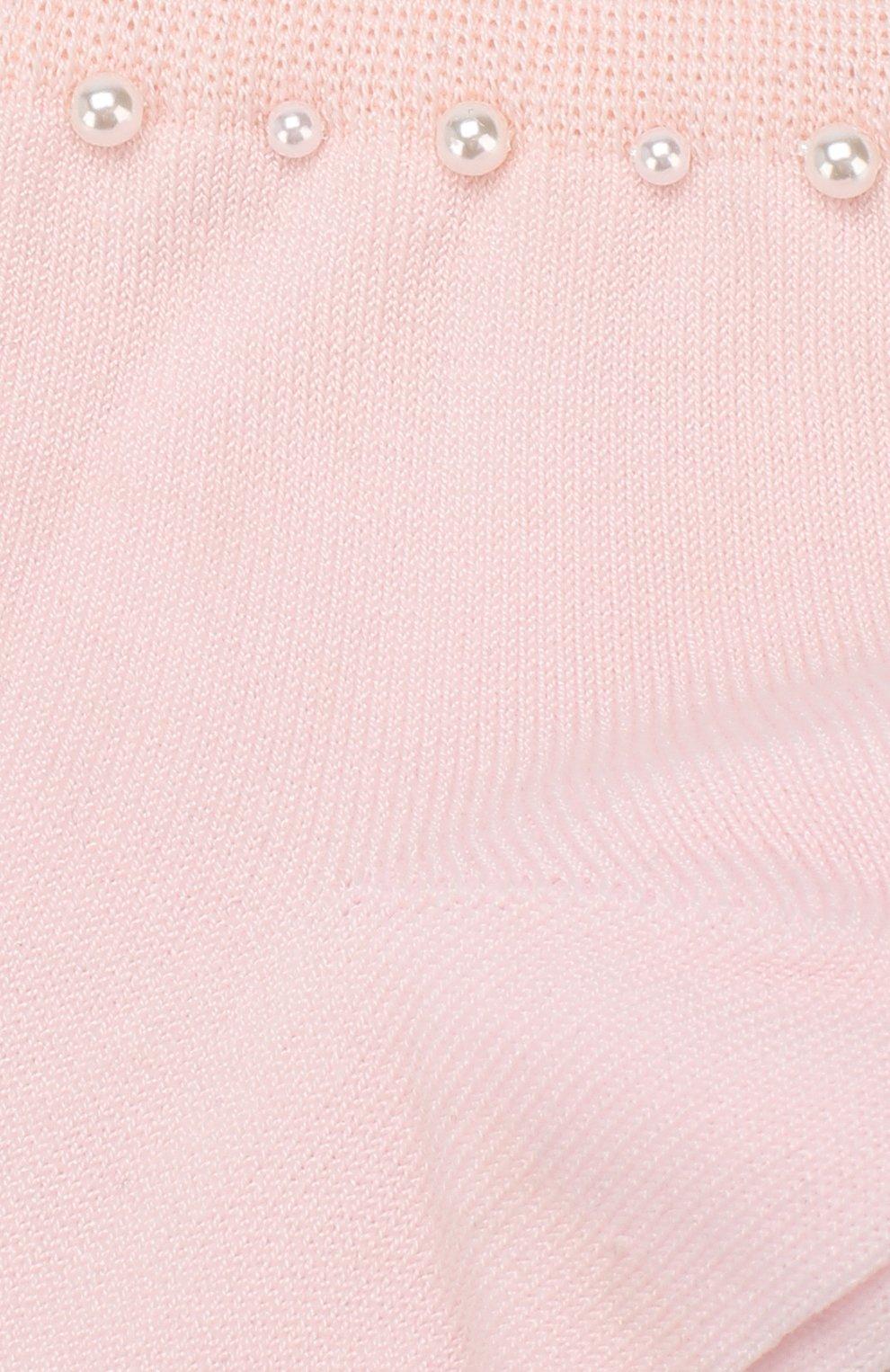 Детские хлопковые носки LA PERLA розового цвета, арт. 42045/9-12 | Фото 2