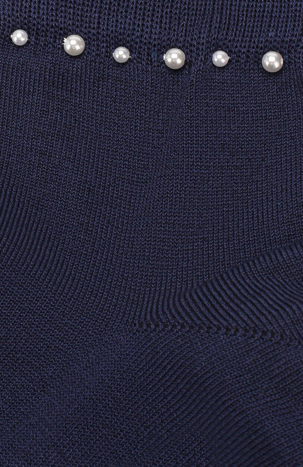 Детские хлопковые носки LA PERLA синего цвета, арт. 42045/9-12   Фото 2