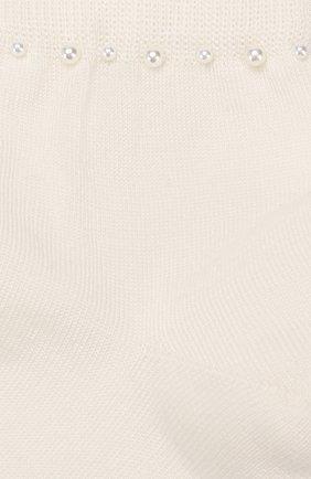 Детские хлопковые носки LA PERLA бежевого цвета, арт. 42045/9-12 | Фото 2