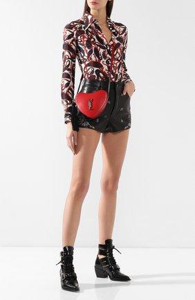 Женский сумка sac coeur SAINT LAURENT красного цвета, арт. 540694/0XB6D | Фото 2