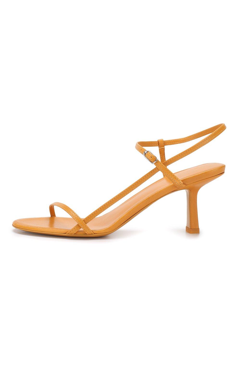 Кожаные босоножки Bare The Row оранжевые | Фото №3