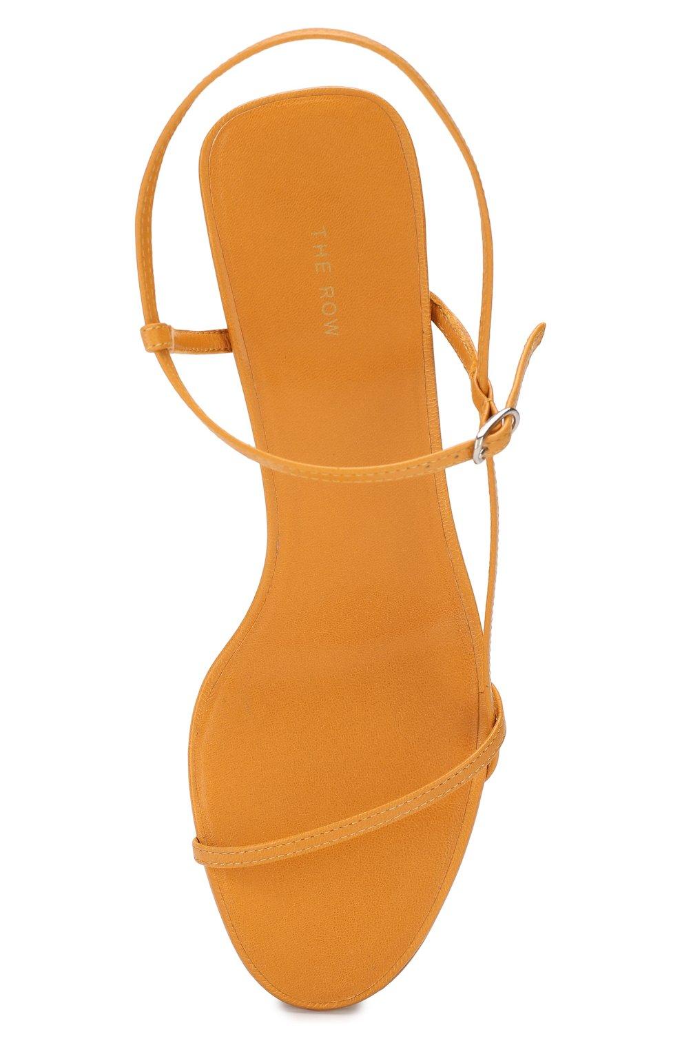 Кожаные босоножки Bare The Row оранжевые | Фото №5