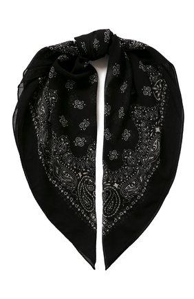 Женский шерстяной платок SAINT LAURENT черного цвета, арт. 551654/3Y200 | Фото 1
