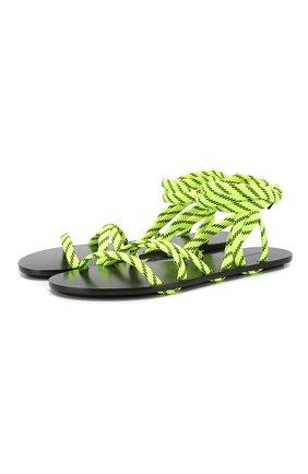 Текстильные сандалии Lace | Фото №1
