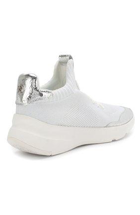 Текстильные кроссовки Pamela DKNY белые | Фото №4