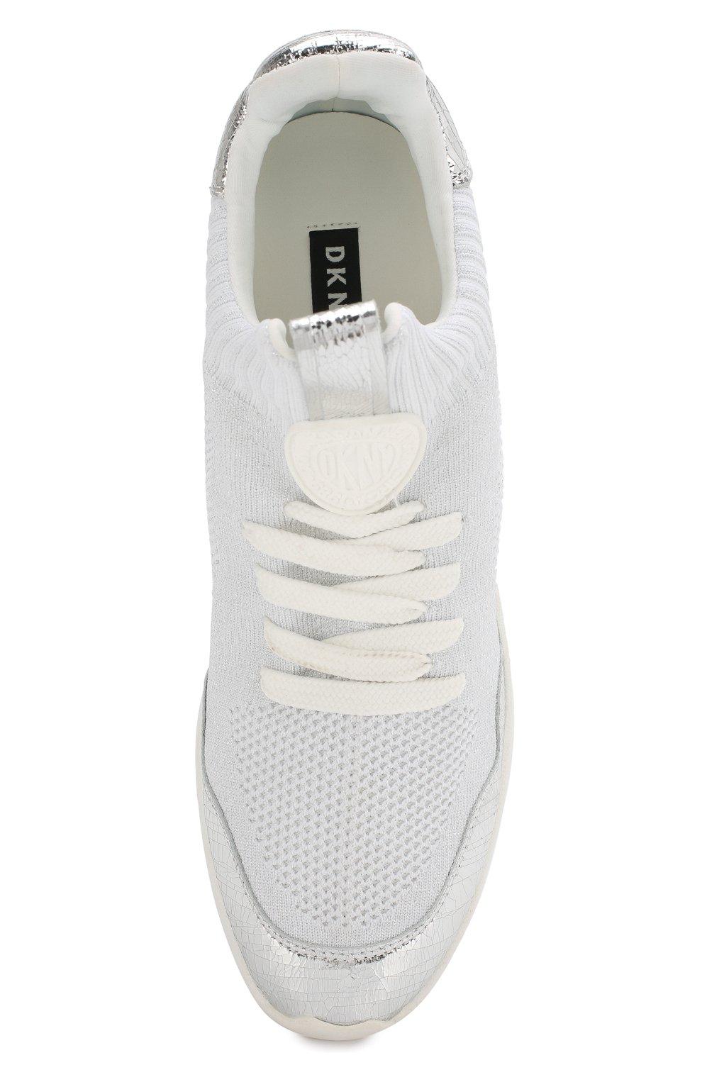 Текстильные кроссовки Pamela DKNY белые | Фото №5