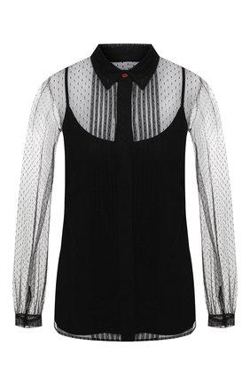 Блузка с сеткой | Фото №1