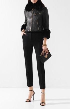 Женская кожаная куртка DOLCE & GABBANA черного цвета, арт. F9E08L/FUL9C | Фото 2