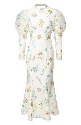Платье-миди с принтом | Фото №1