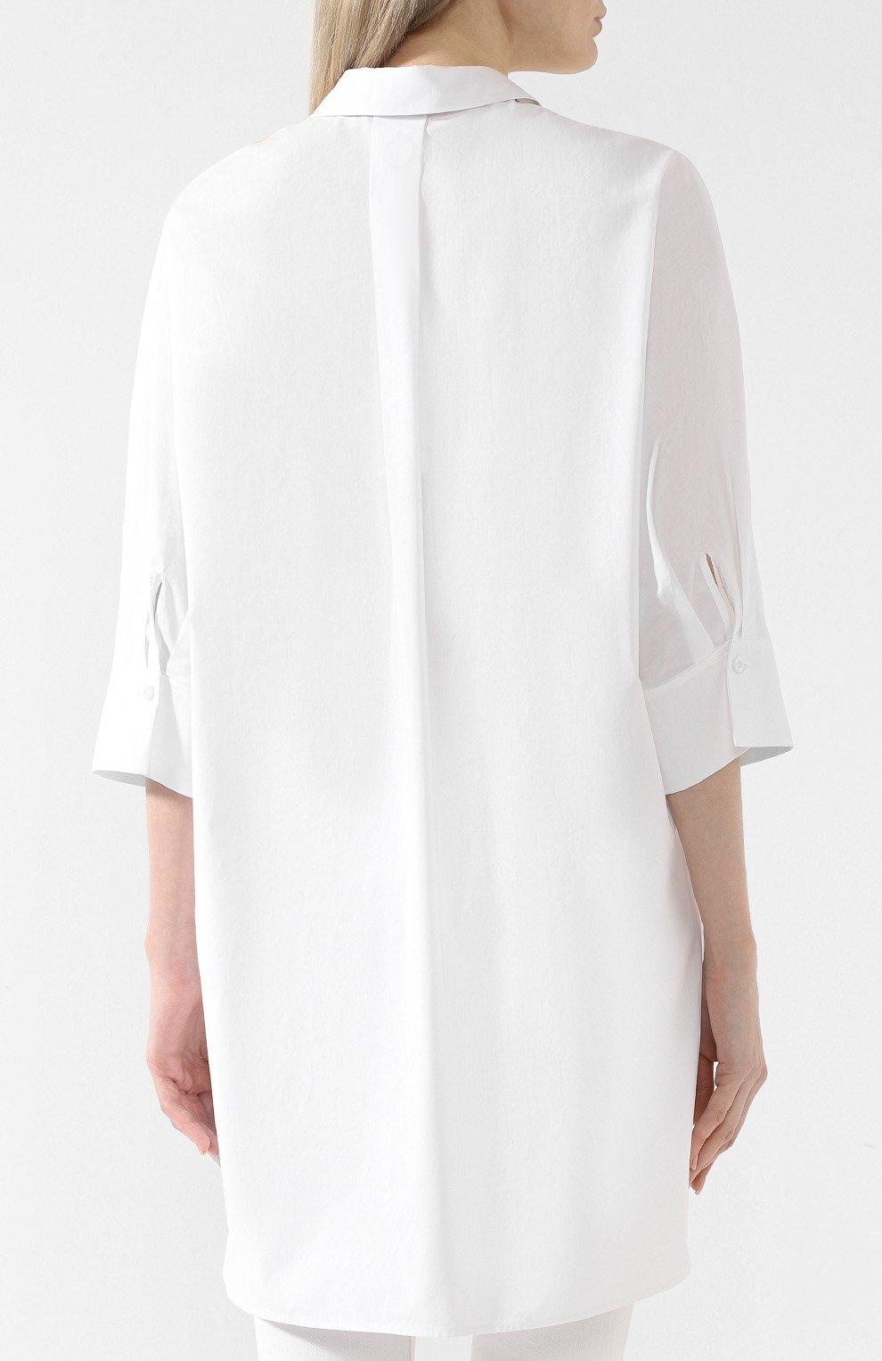 9aa100bbb3f Женская белая хлопковая рубашка ESCADA SPORT — купить за 26450 руб ...