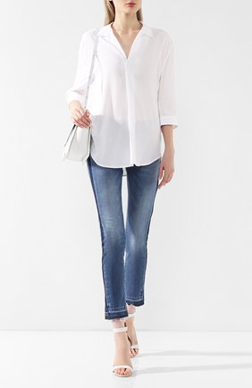 Женская блузка из вискозы PIETRO BRUNELLI белого цвета, арт. CA0207/VI2905 | Фото 2