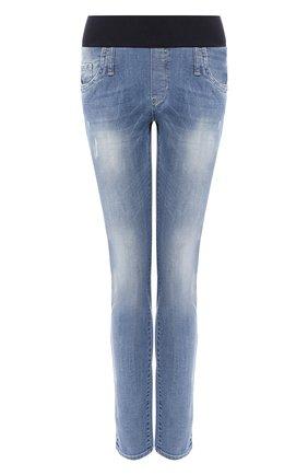 Женские джинсы с эластичным поясом PIETRO BRUNELLI синего цвета, арт. JP0043/DE0001 | Фото 1