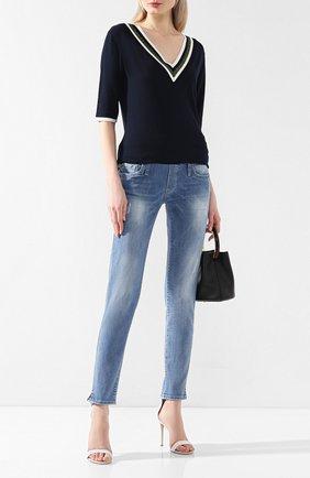 Женские джинсы с эластичным поясом PIETRO BRUNELLI синего цвета, арт. JP0043/DE0001 | Фото 2