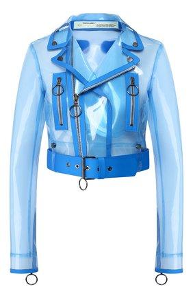 Женская прозрачная куртка OFF-WHITE голубого цвета, арт. 0WJG001R19C650563110 | Фото 1