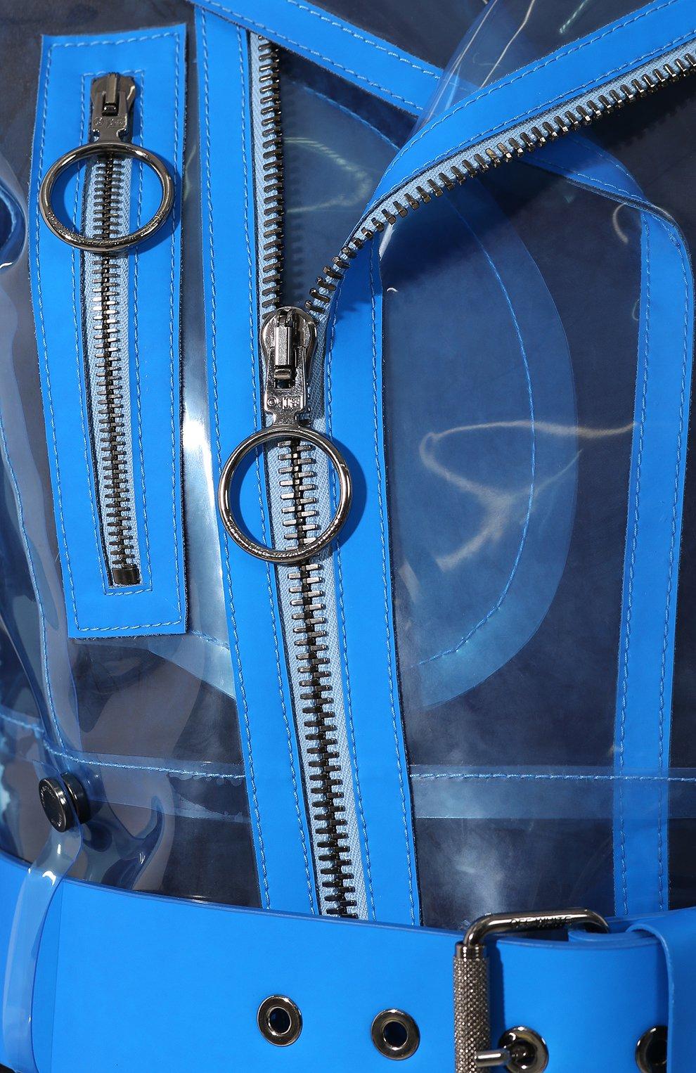Женская прозрачная куртка OFF-WHITE голубого цвета, арт. 0WJG001R19C650563110 | Фото 5