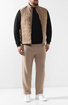 Мужской кожаный жилет BRIONI бежевого цвета, арт. PUE30L/P8705 | Фото 2