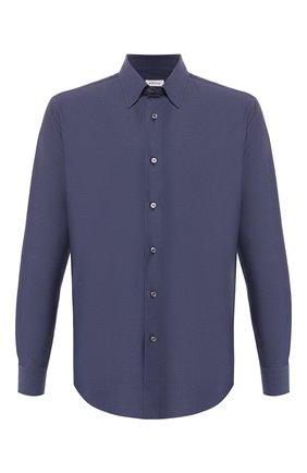 Мужская хлопковая рубашка с воротником кент BRIONI синего цвета, арт. SCAD0L/P8019 | Фото 1