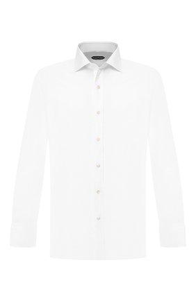 Мужская хлопковая сорочка с воротником кент TOM FORD белого цвета, арт. 5FT190/94C1AX | Фото 1