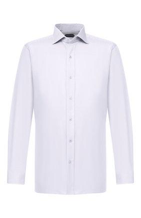 Мужская хлопковая сорочка с воротником кент TOM FORD светло-серого цвета, арт. 5FT191/94C1AX | Фото 1